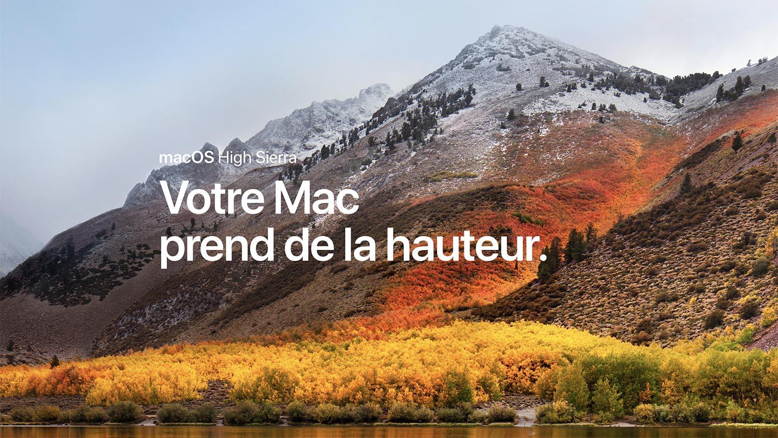 macOS High Sierra disponible