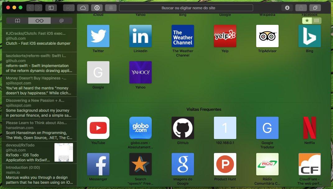 macOS mode sombre Safari