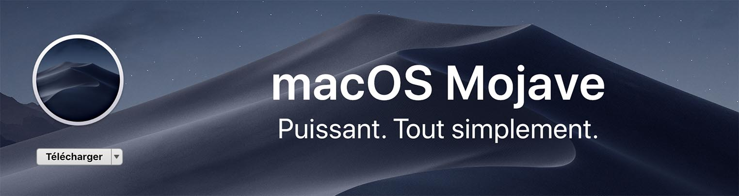 macOS Mojave disponible