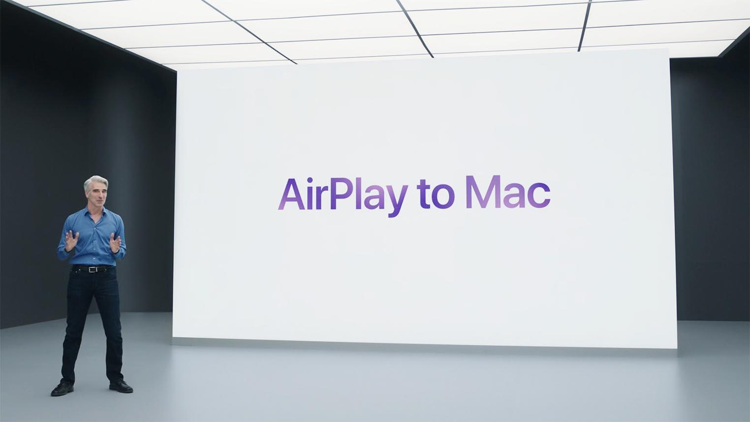 macOS Monterey AirPlay Mac