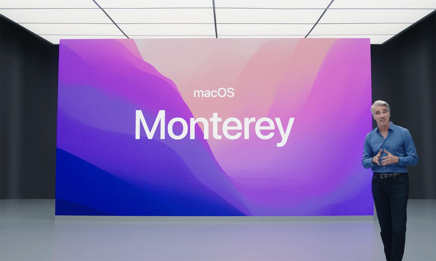macOS Montery Craig Federighi