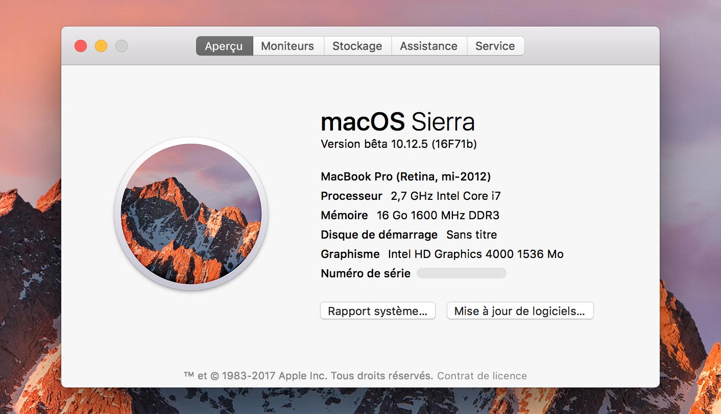 macOS Sierra 10.12.5 Beta 5
