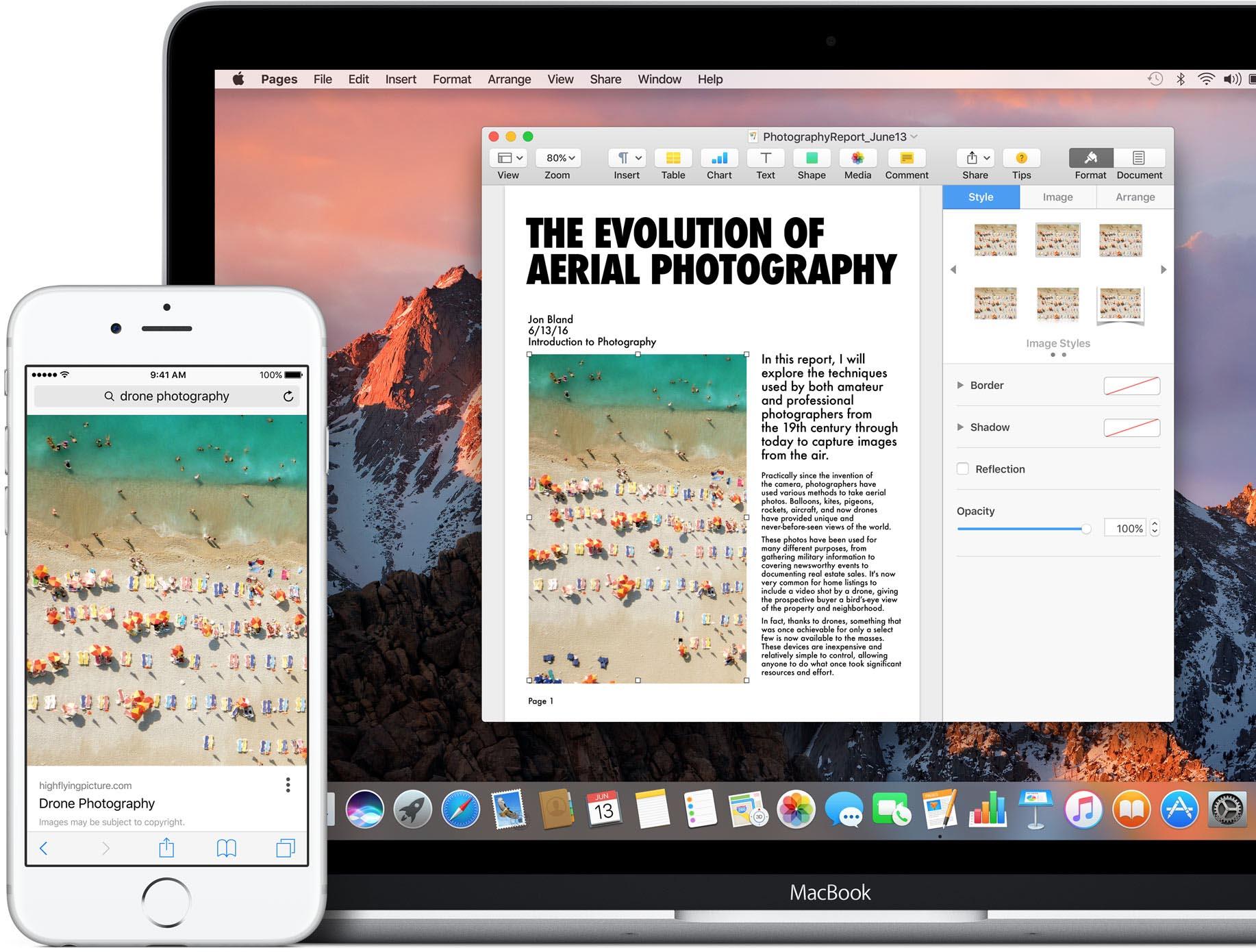 macOS Sierra copier coller