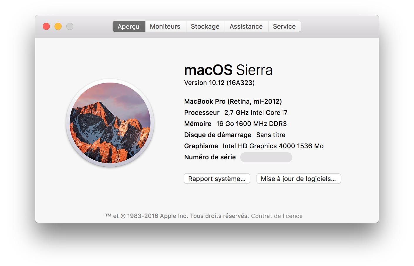 macOS Sierra GM2