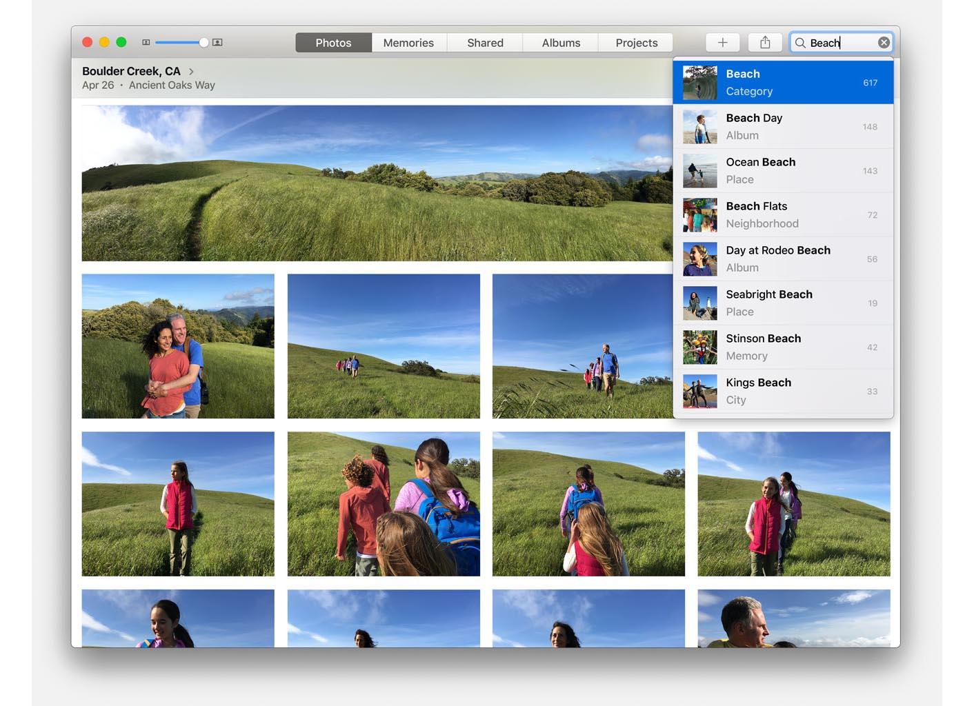 macOS Sierra Photos