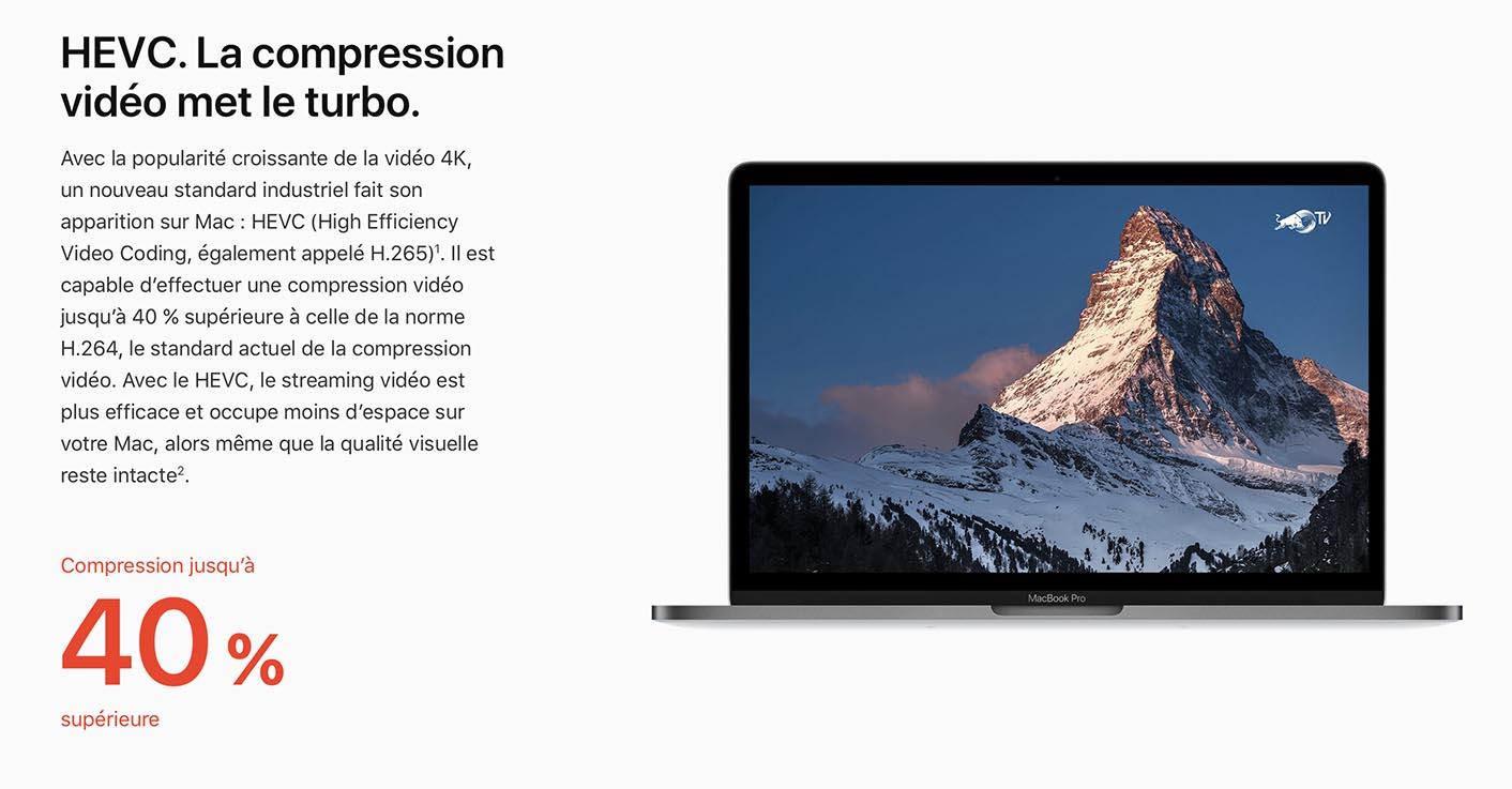 macOS 10.13 HEVC