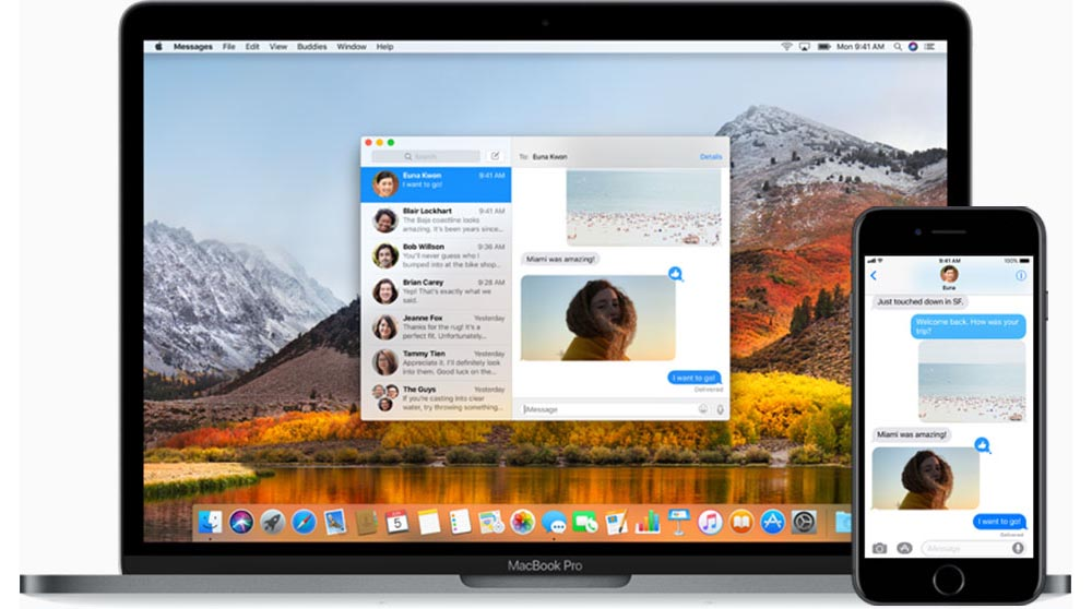 macOS 10.13 Messages