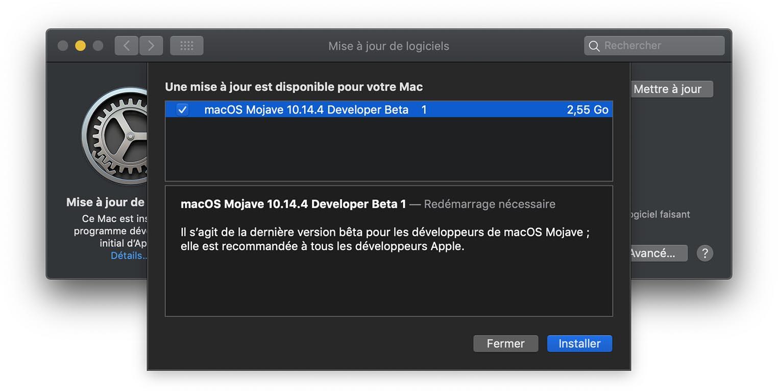 macOS 10.14.4 Beta 1