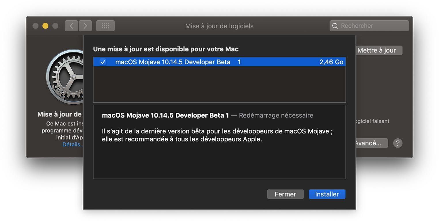 macOS 10.14.5 Beta 1