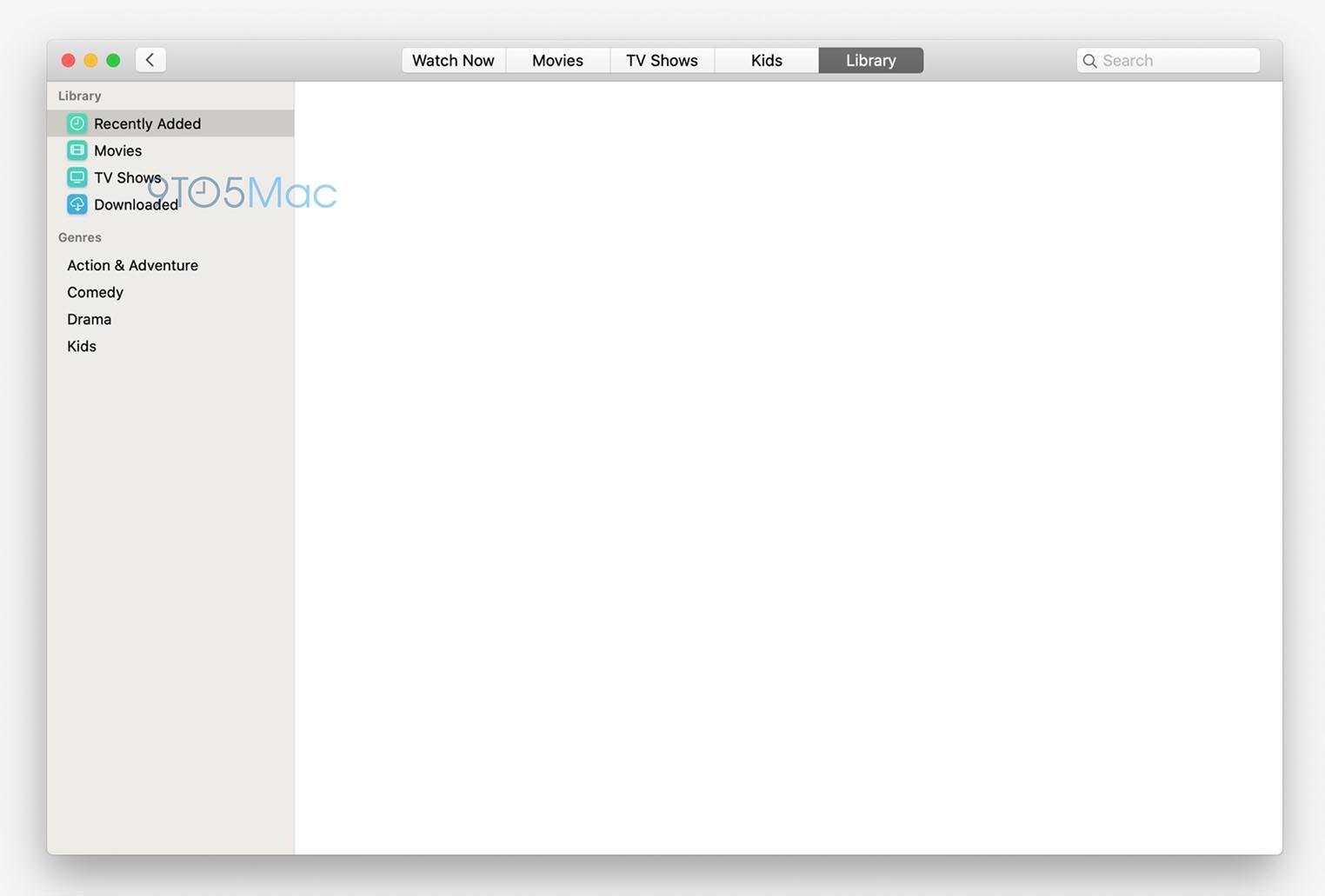 macOS 10.15 screenshot TV