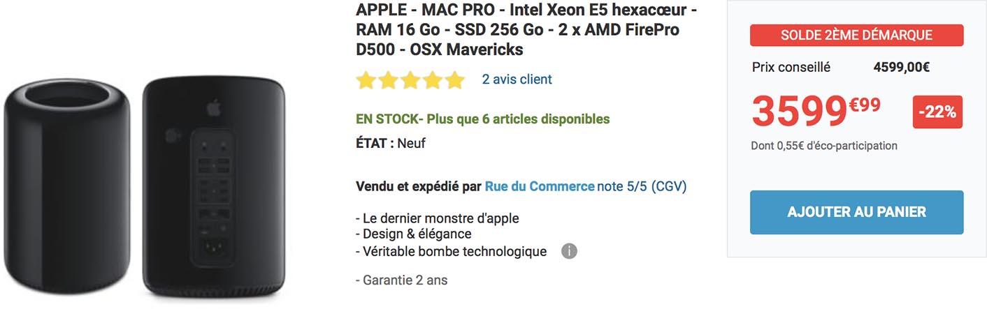 Mac Pro promo Rue du Commerce