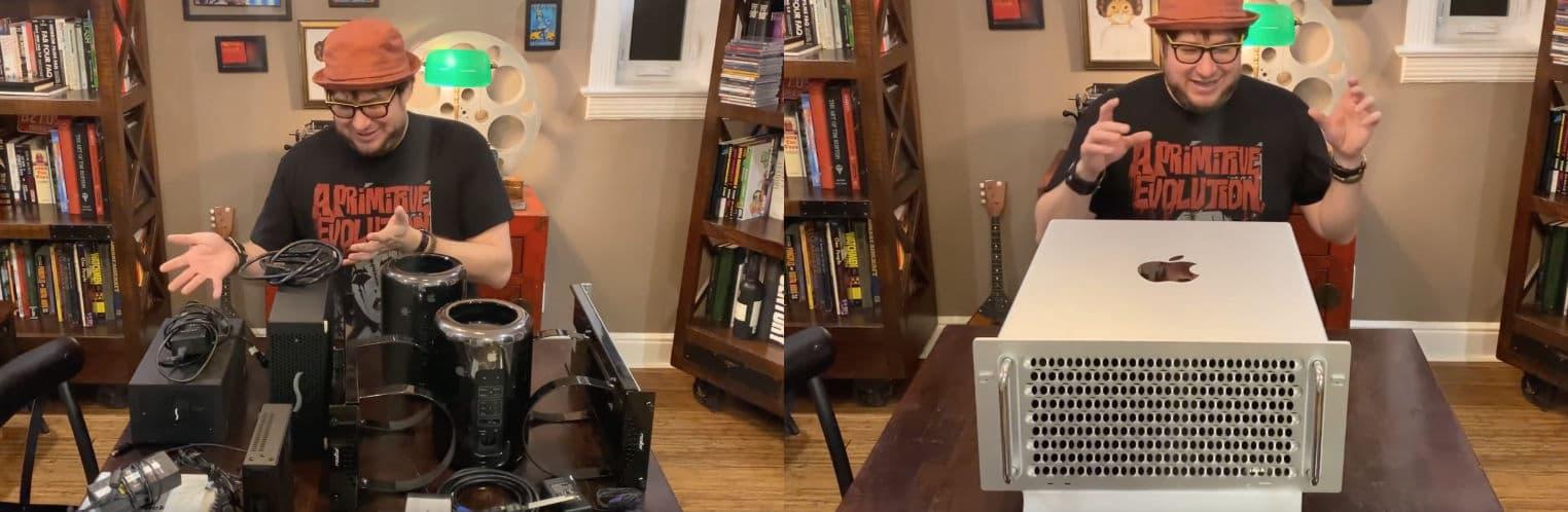ancien Mac Pro urne vs nouveau Mac Pro Rack
