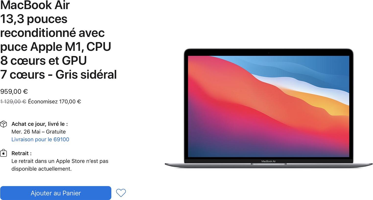 MacBook Air M1 Refurb