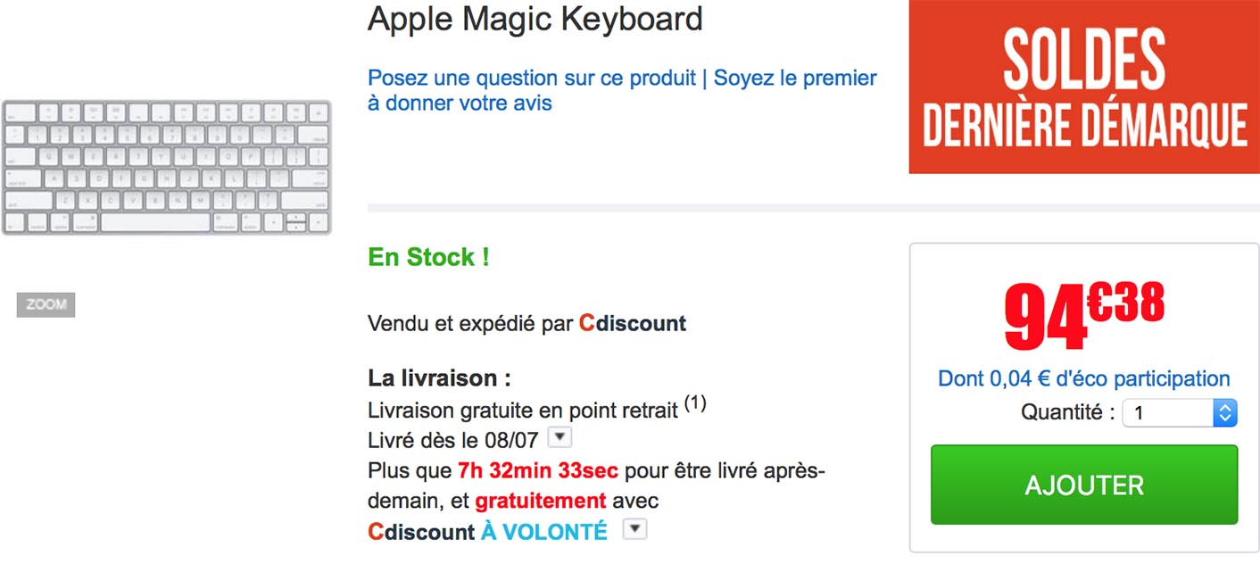 Magic Keyboard CDiscount