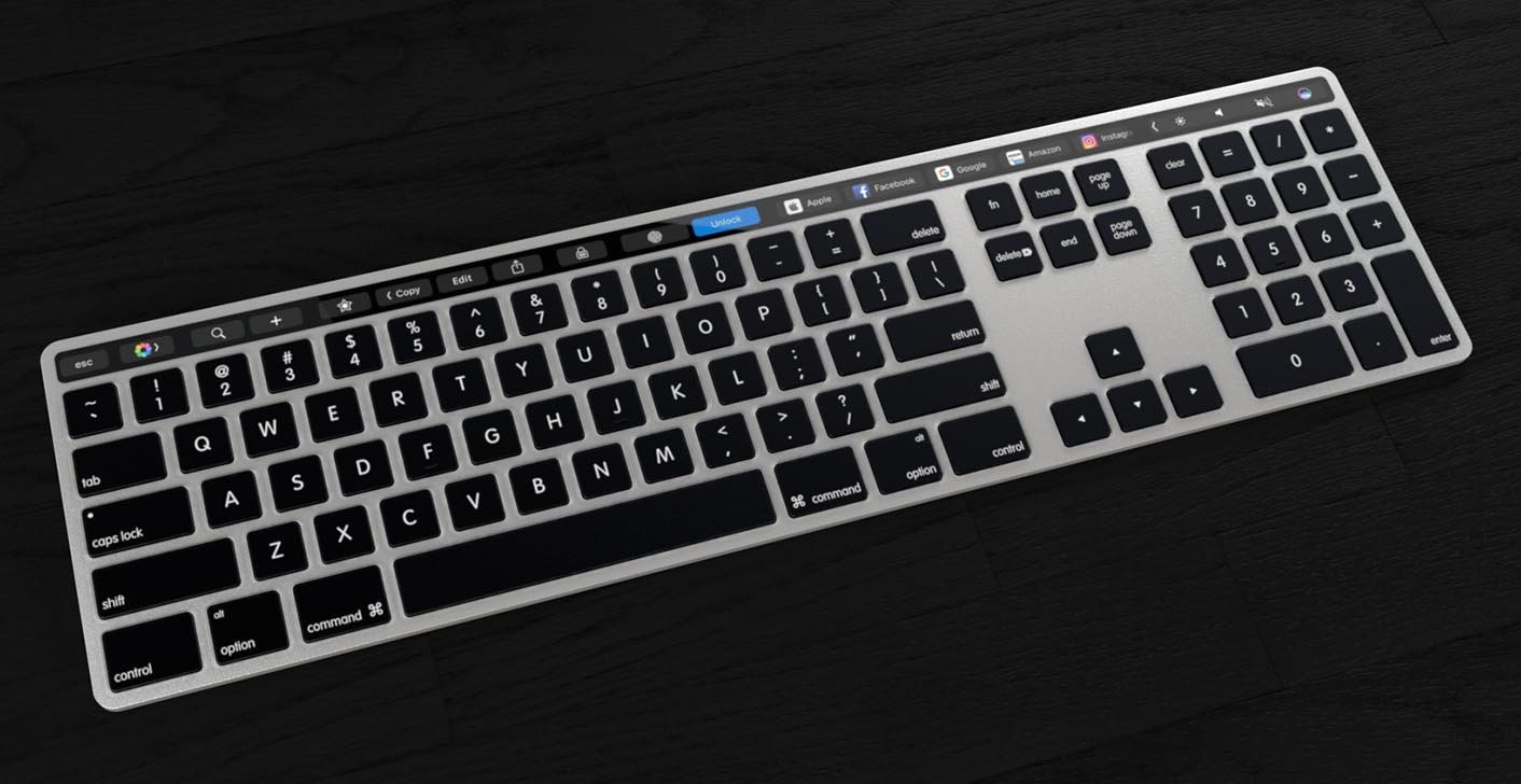 Concept Magic Keyboard Touch Bar