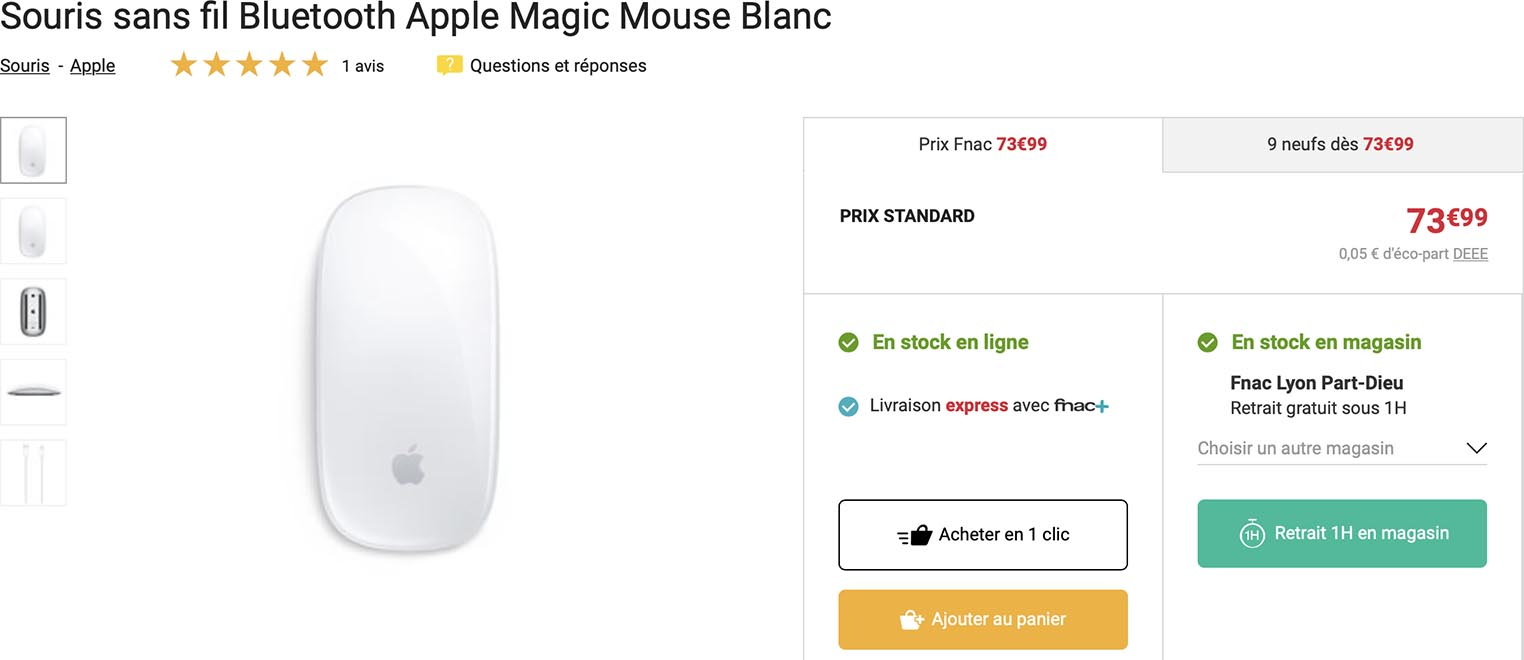 Magic Mouse Fnac