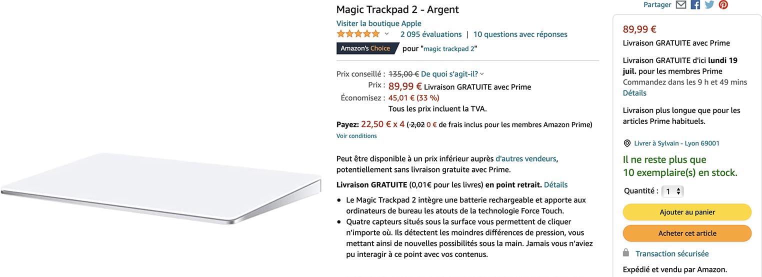 Magic Trackpad 2 Amazon