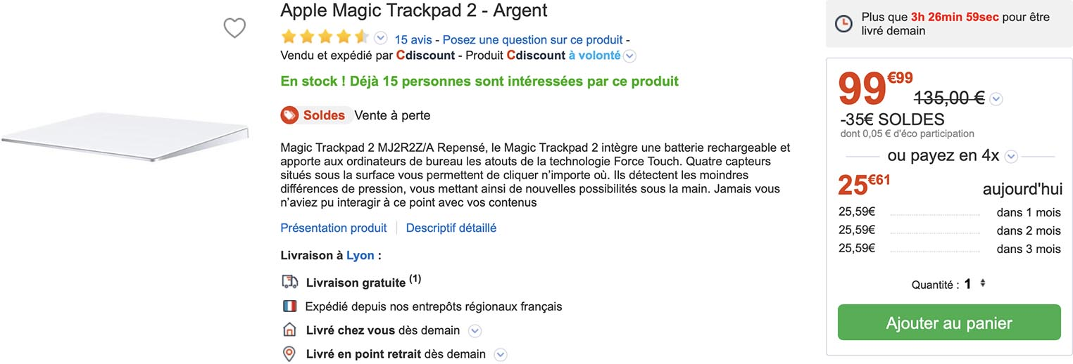 Magic Trackpad 2 CDiscount