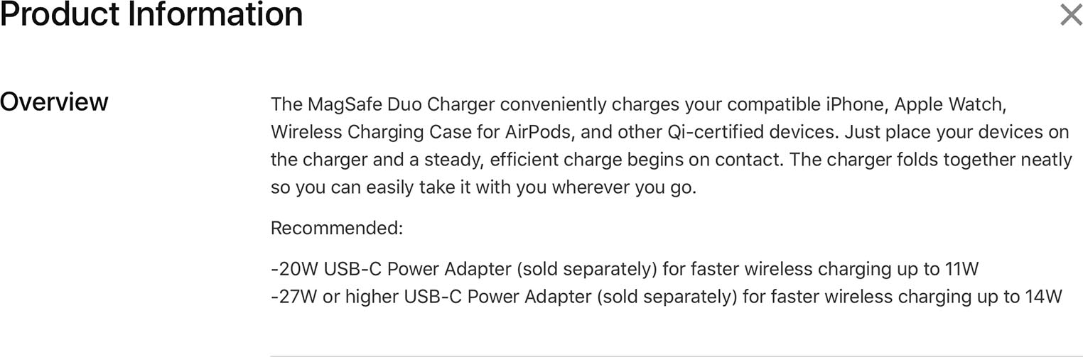 MagSafe Duo product information