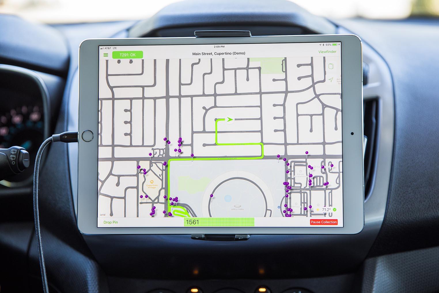 Apple Maps capteurs voiture iPad