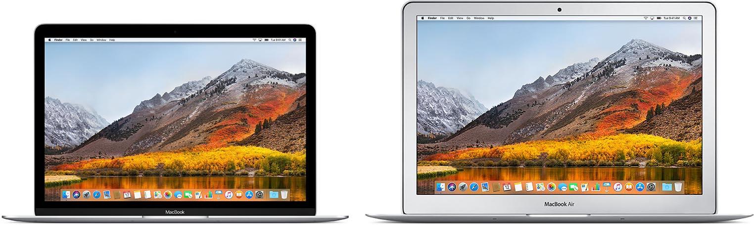 MacBook 12 MacBook Air comparaison
