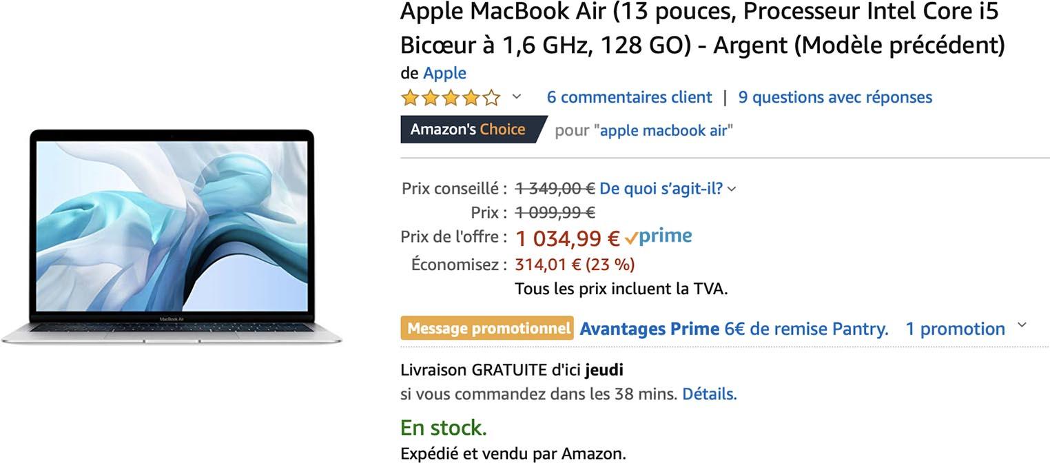 MacBook Air 2018 promo Amazon