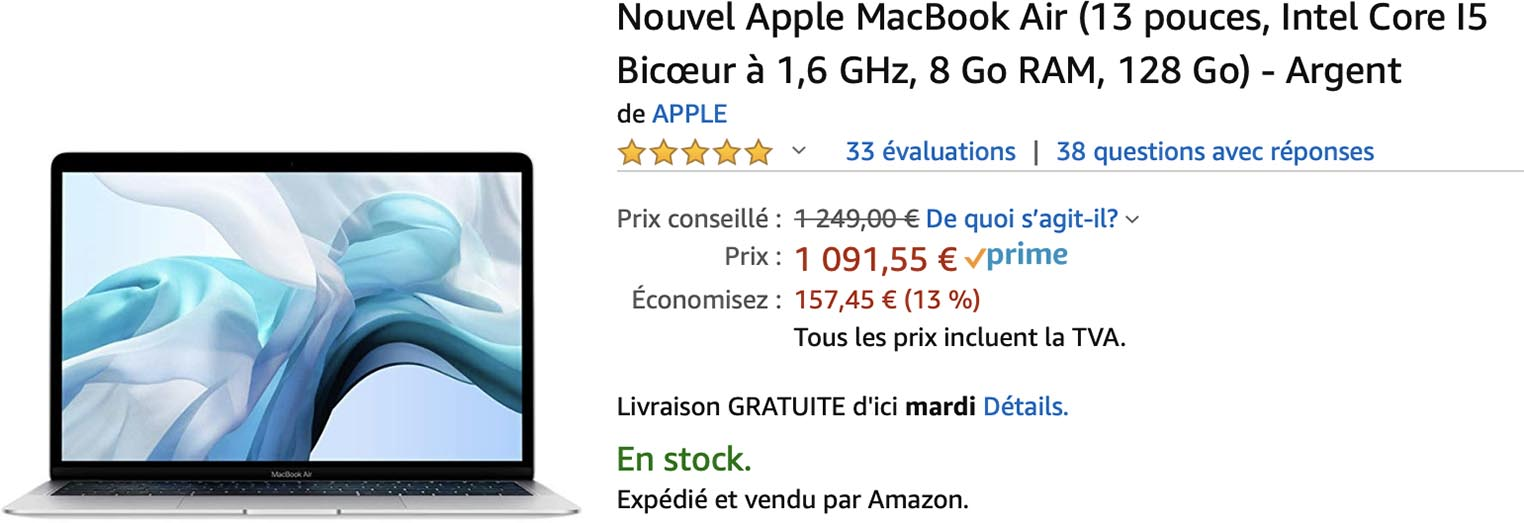 MacBook Air Amazon
