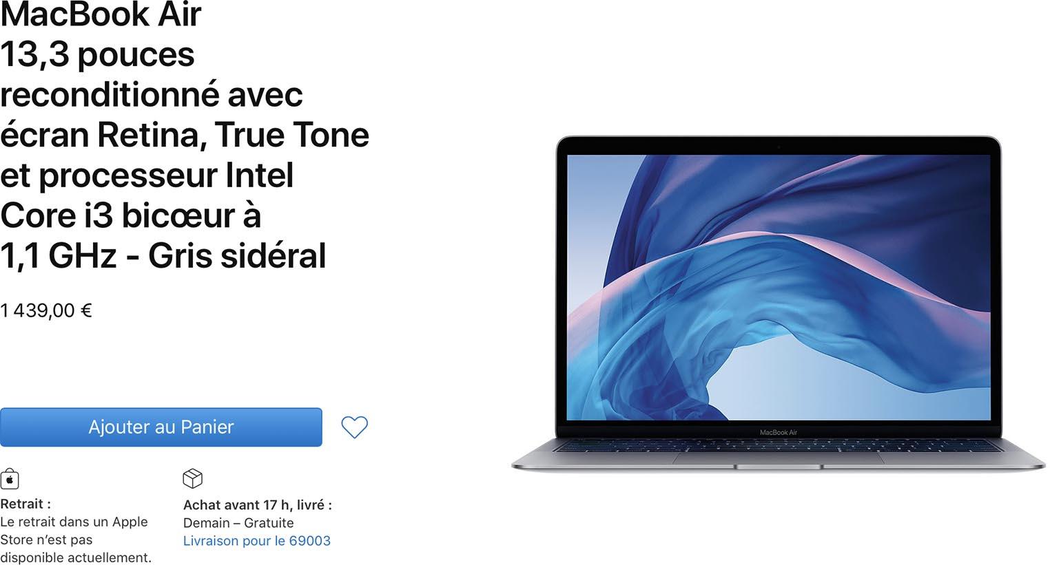 MacBook Air 2020 Refurb Store