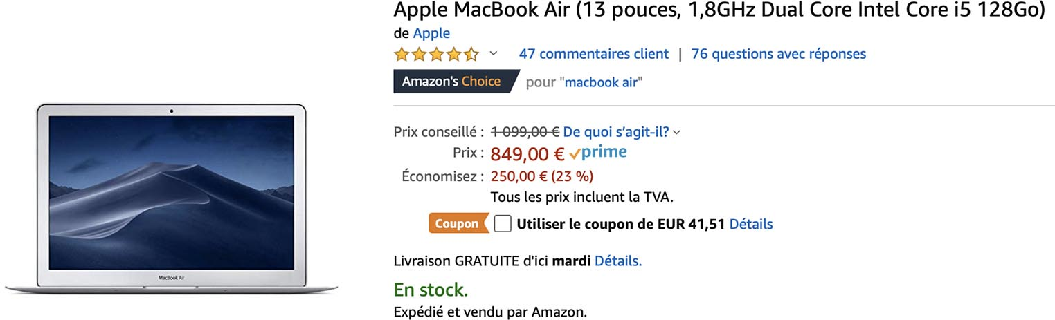 MacBook Air Amazon