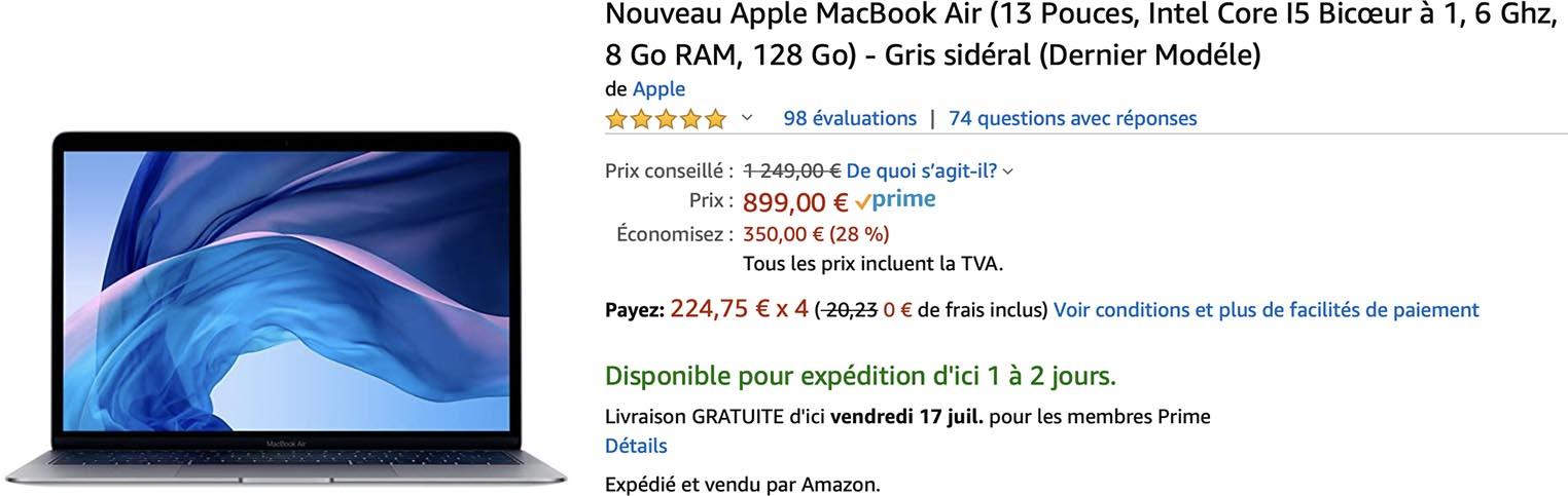 MacBook Air 2019 Amazon