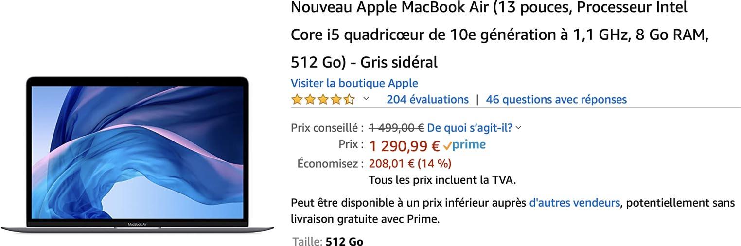 MacBook Air 2020 Amazon