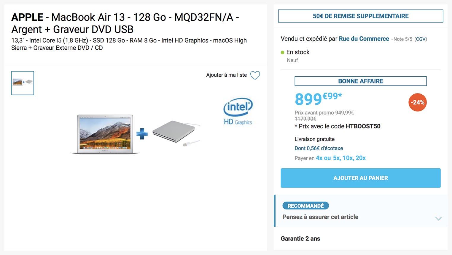 MacBook Air SuperDrive Rue du Commerce