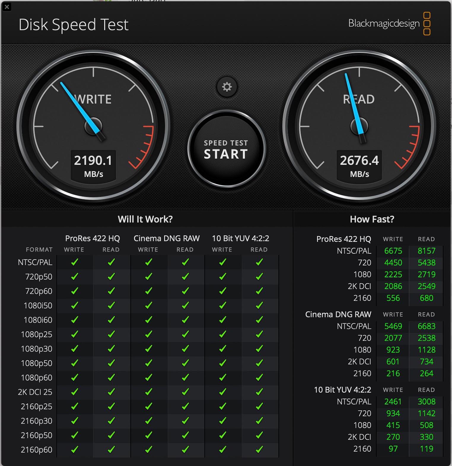MacBook Air 2020 SSD test