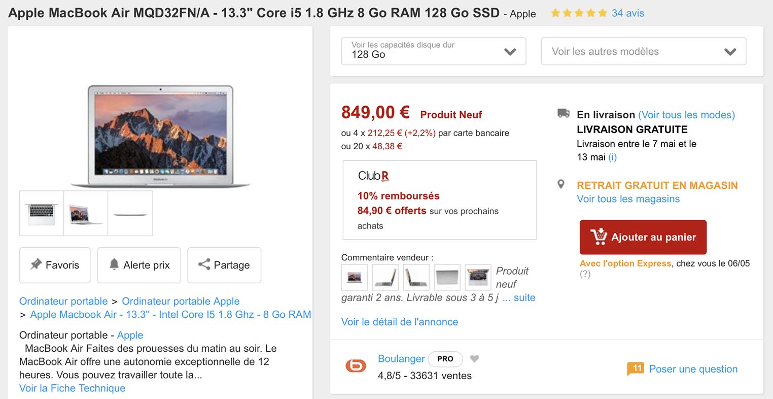 MacBook Air Rakuten
