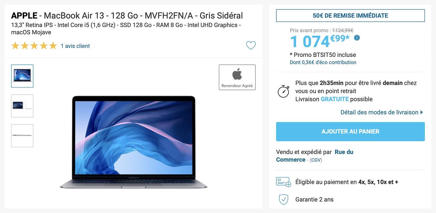 MacBook Air 2019 Rue du Commerce