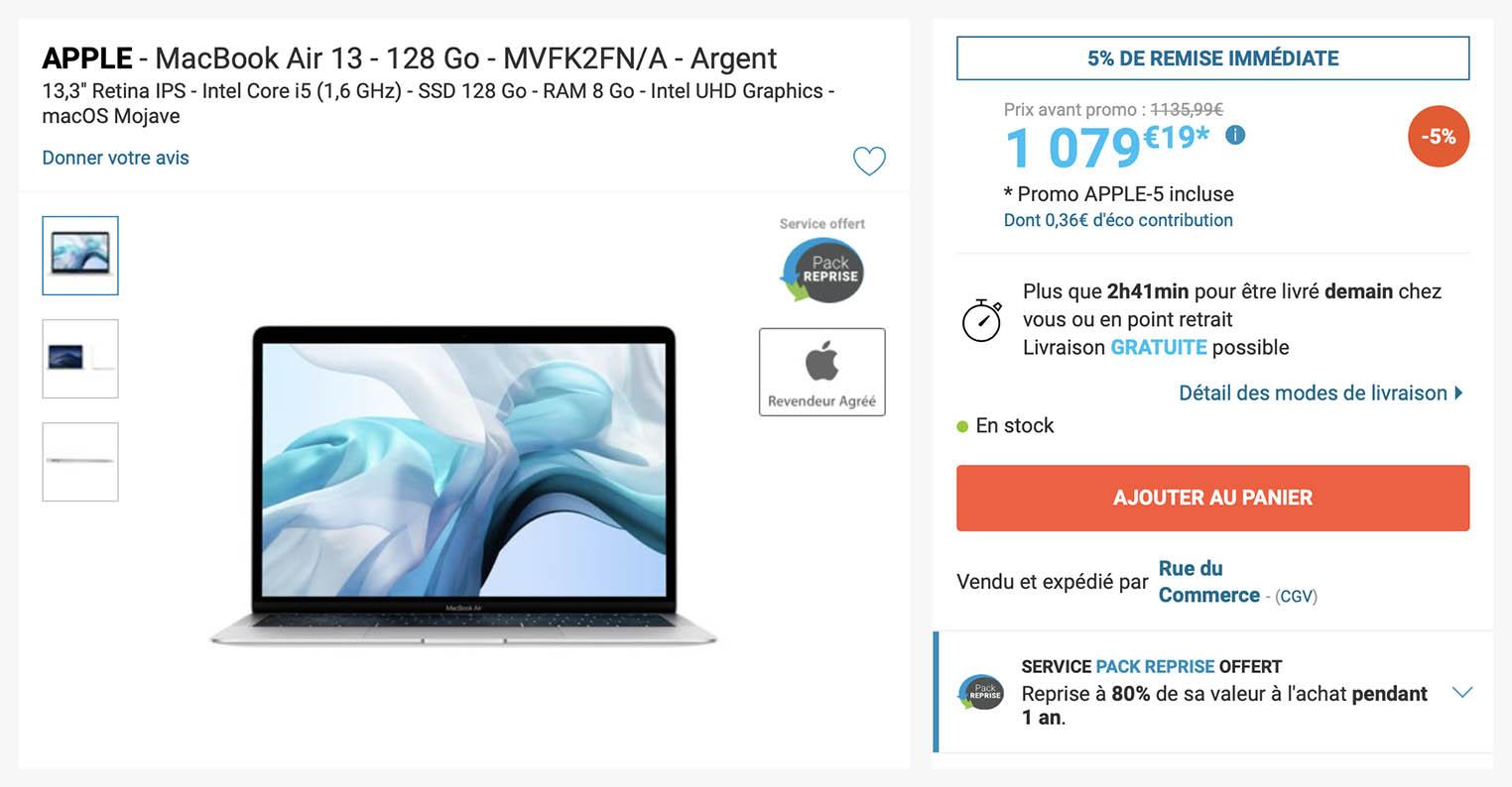 MacBook Air Rue du Commerce