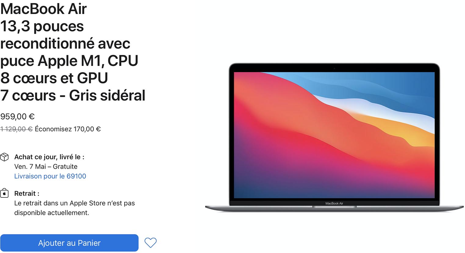 MacBook Air Refurb Store
