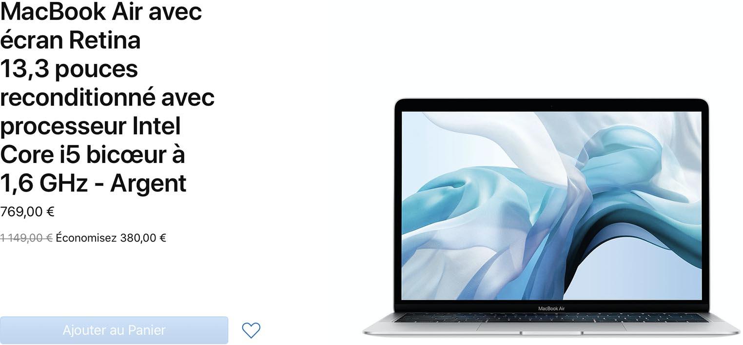 MacBook Air 2018 Refurb