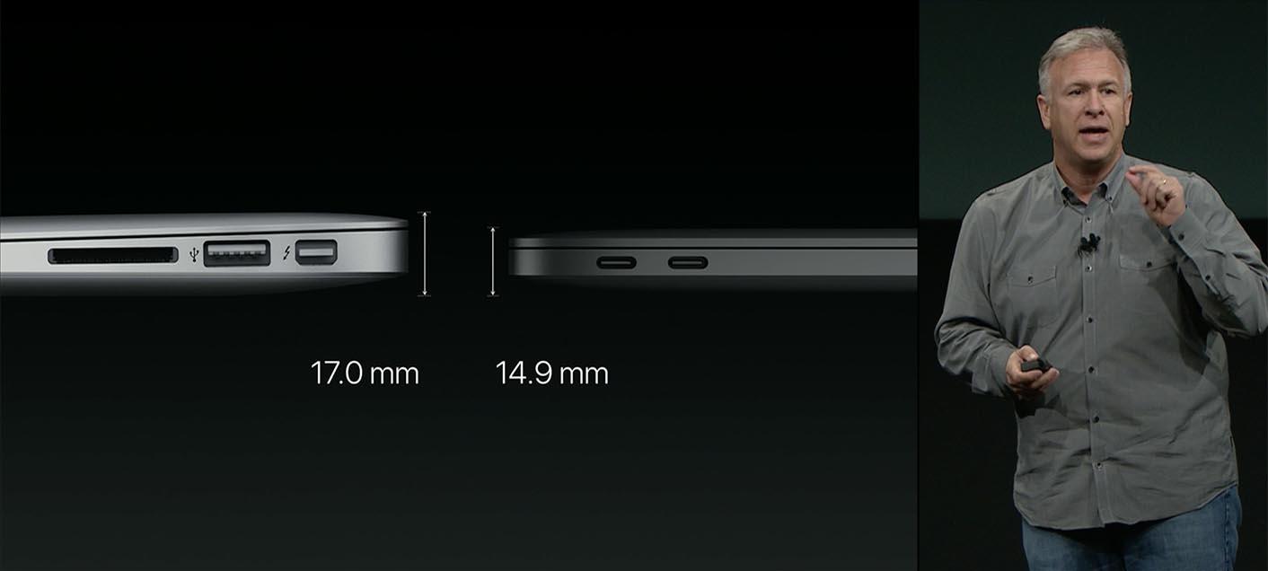 MacBook Pro 13 épaisseur