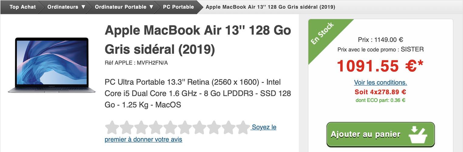 MacBook Air Top Achat