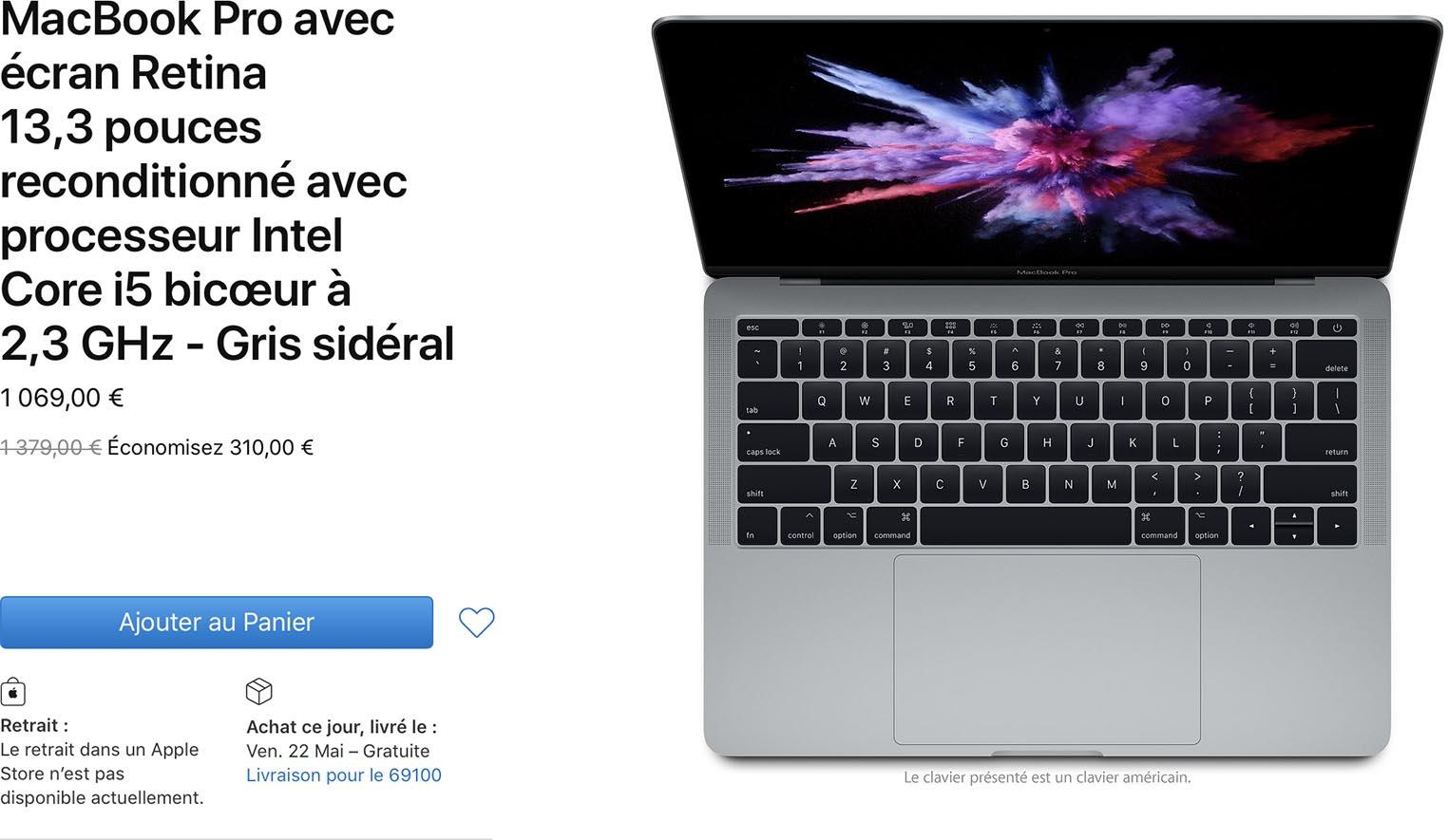 MacBook Pro 2017 Refurb Store