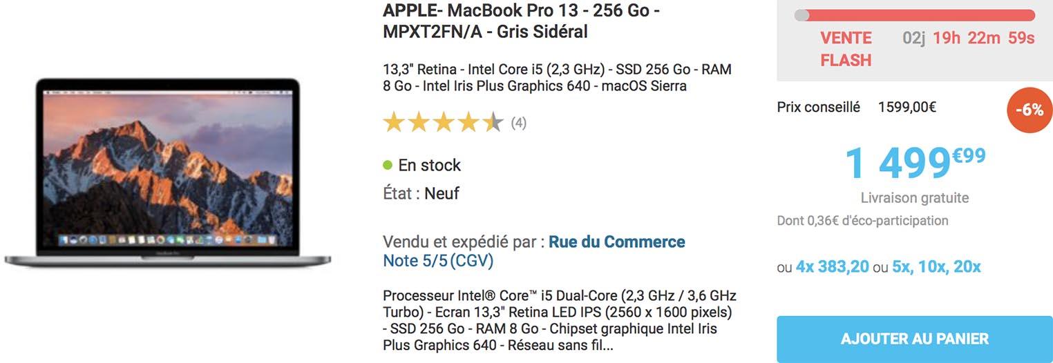 MacBook Pro 13 Rue du Commerce