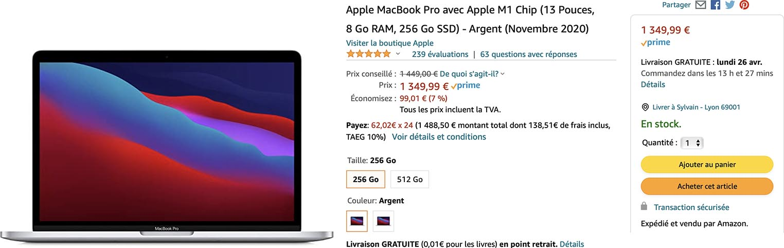MacBook Pro M1 Amazon