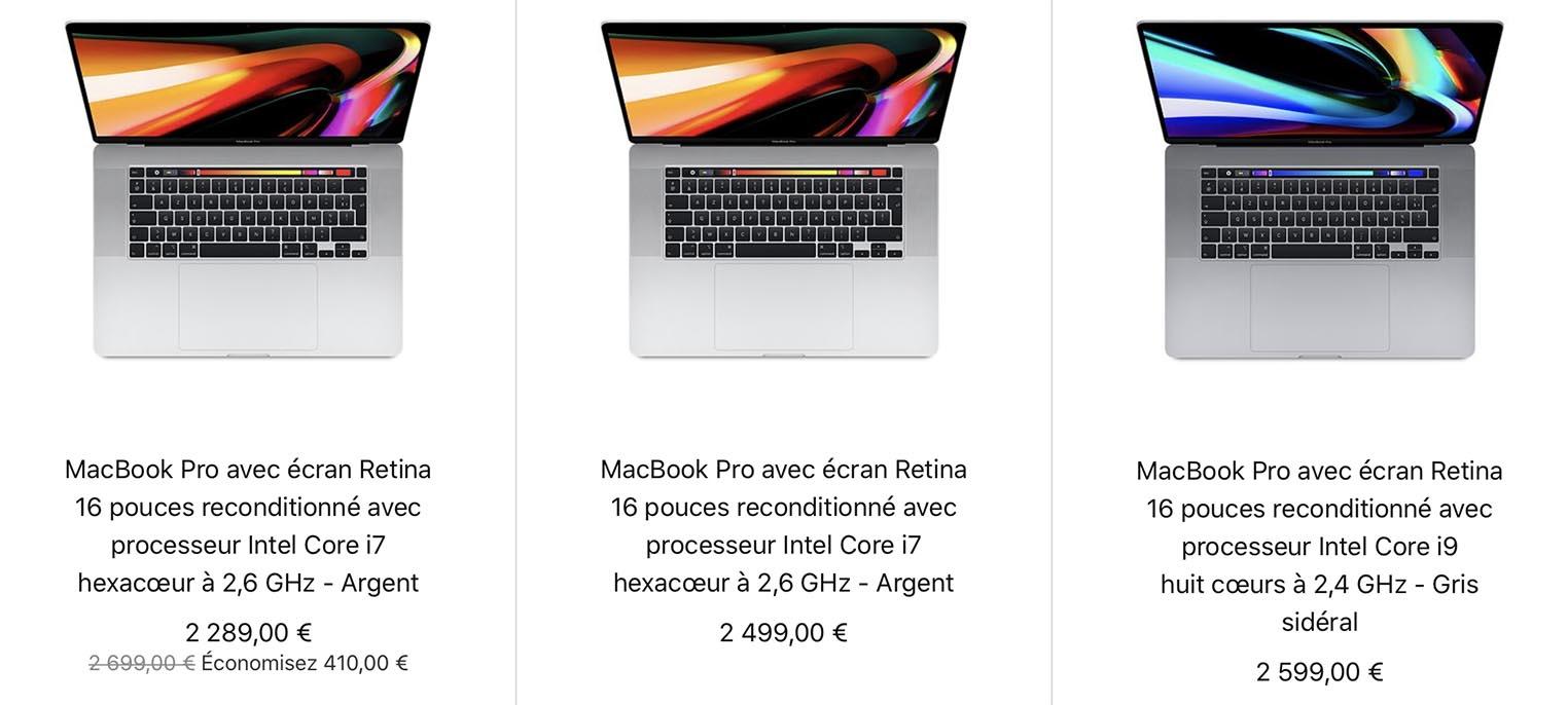 MacBook Pro 16 pouces Refurb Store