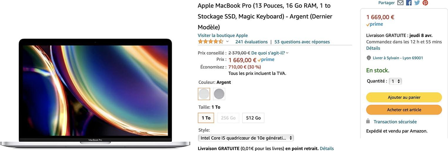 MacBook Pro Intel promo Amazon