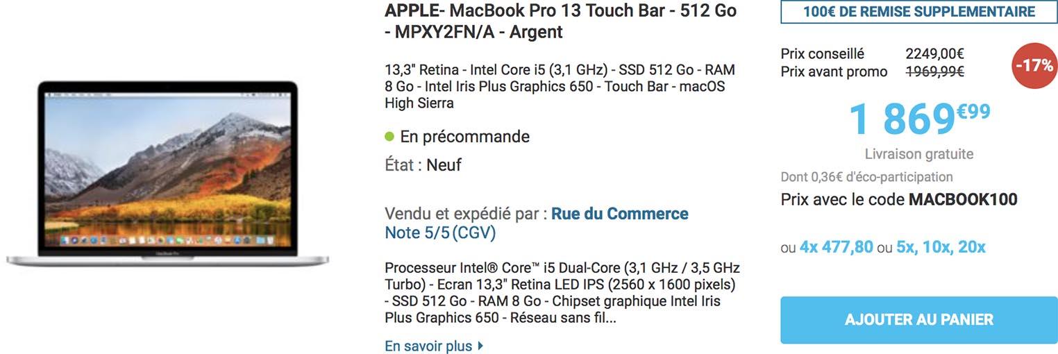 MacBook Pro Rue du Commerce