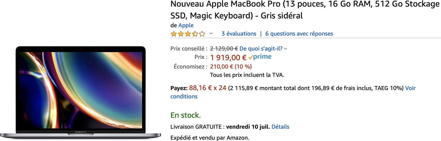 MacBook Pro 2020 Amazon