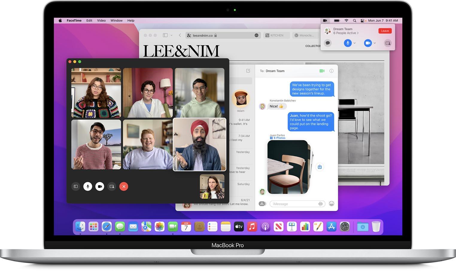MacBook Pro FaceTime macOS Monterey