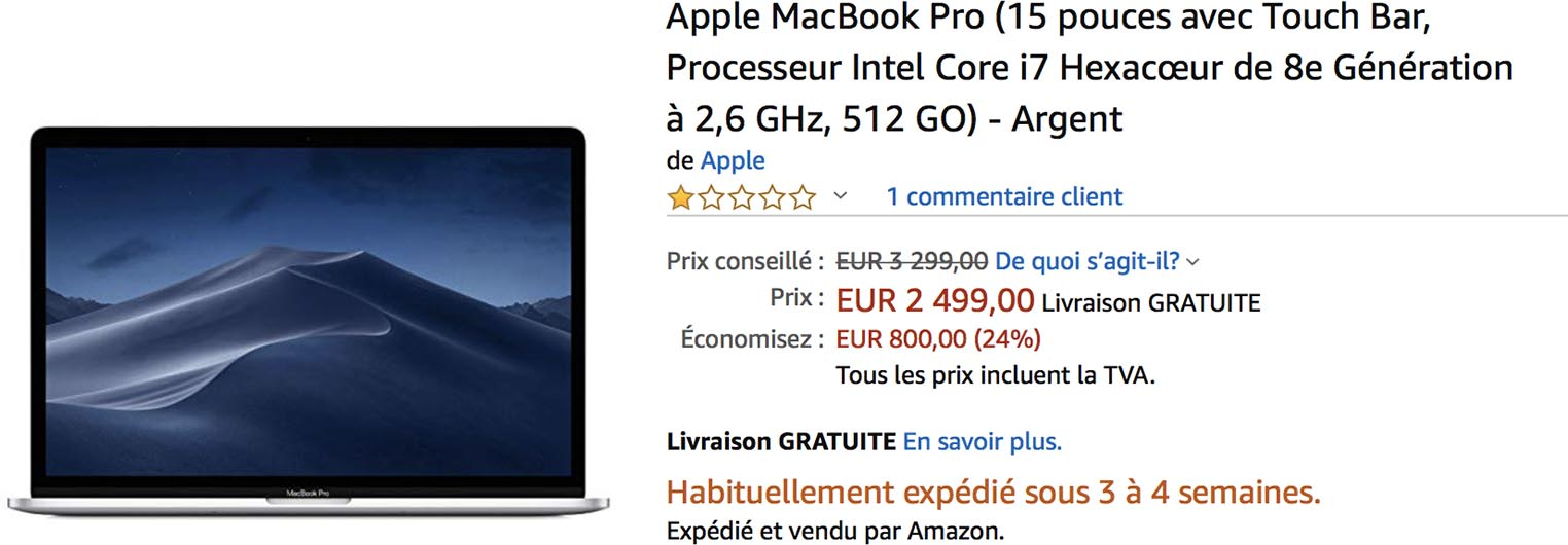 MacBook Pro 15 Amazon
