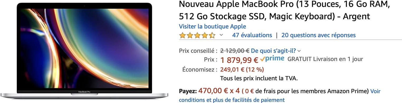 MacBook Pro 2020 promo Amazon